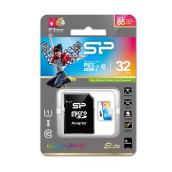 Paměťová karta Silicon Power ELITE COLORFUL microSDHC, UHS-1, C10, 32GB + adaptér SD